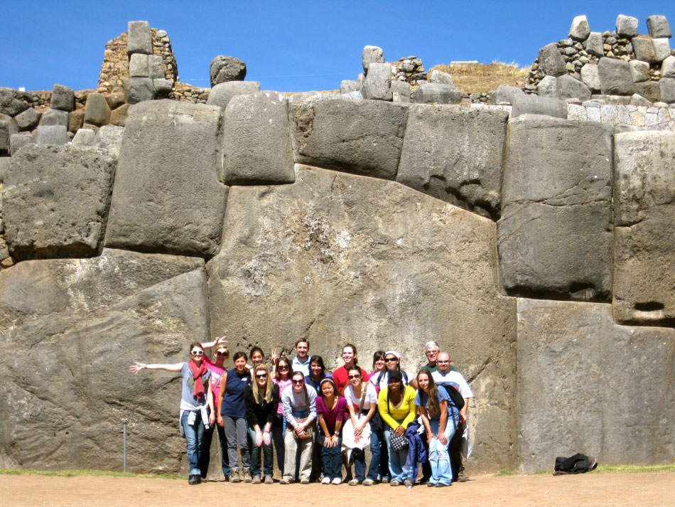 The perfect joining walls of Sacsayhuamán, near Cuzco in Peru