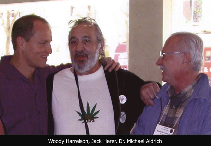 "Jack Herer (middle) is the author of the bestseller ""The Emperor Wears No Clothes: Hemp and the Conspiracy Against Marijuana"". He traveled across the world to acquaint people with the healing effect of industrial hemp and medical marijuana. He offered 100,000 dollars to prove him wrong. Until the day he died of a heart attack (April 15, 2010) he had been able to keep this reward in his pocket"